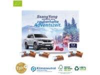 Ökologischer Karton-Adventskalender mit Fair-Plus Bio-Vollmilchschokolade