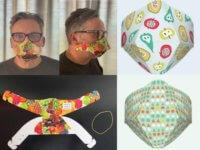 Gestaltungsbeispiele der Behelfs-Mund-Nasen-Maske