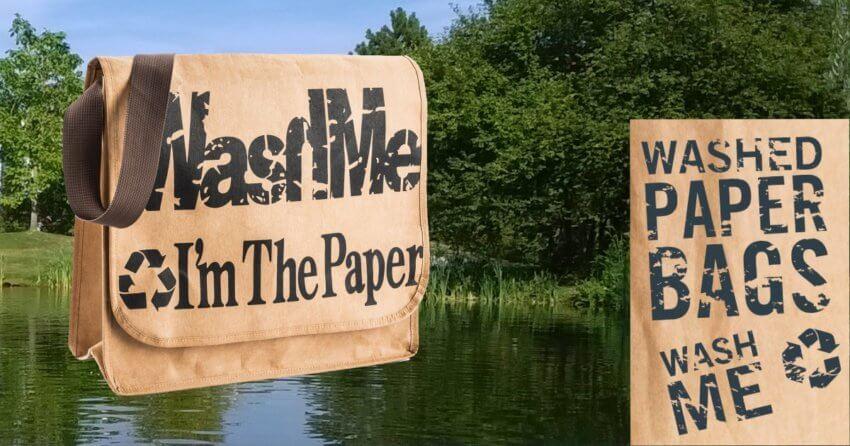 Washed Paper Bags - waschbare Taschen