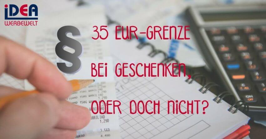 35 EUR-Grenze bei Geschenken