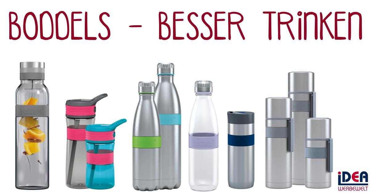Boddels Trinkflaschen umweltfreundlich wiederverwendbar