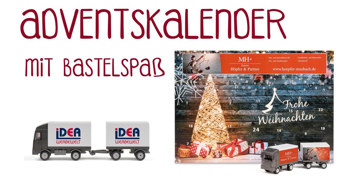 Adventskalender Bastelkalender Weihnachten LKW LKW-Kalender