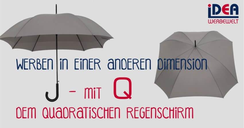 Q quadratischer Schirm Regenschirm