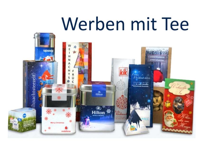 Werbetee - Tee in Geschenkverpackung