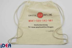 Zuzieh-Rucksack aus ungebleichter Baumwolle bedruckt mit 2 farbigem Logo