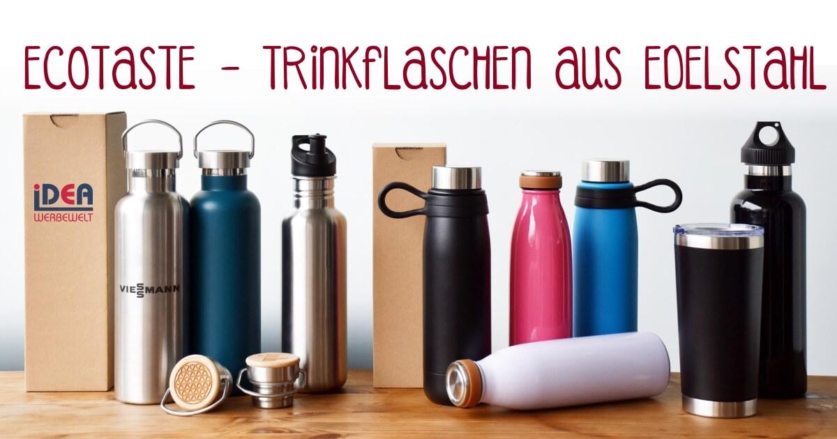 Ecotaste Edelstahl Flaschen Umwelt Natur Recycelbar Mehrweg Einweg