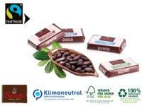 Adventskalender Weihnachten weihnachtliche Süßigkeiten ökologisch nachhaltig fairtrade-zertifizierter Kakao