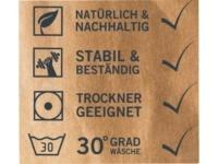 Washed Paper Bags -Pflegeetikett waschbare Taschen