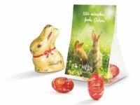 Oster-Giveaways Werbetasche mit Osterhase und Eiern