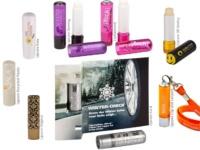 Werbeartikel für den Messeauftritt Lippenpflegestifte