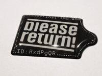 Lost-Tag Sticker Doming, Finder