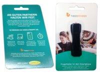 Produktverpackung Happy Strappy Fingerhalter Handyhalter