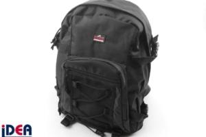 Rucksack mit aufgenähtem Rubber Badge