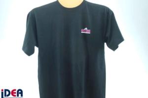 T-Shirt mit Flockdruck veredelt
