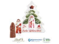 Schokokarte Business mit Lindt Weihnachtsmann