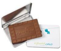 Kaiserstuhl, Schokolade, Schokoladen-Tafel, Schokolade mit Werbe-Relief