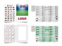WM Weltmeisterschaft Pocket Spielplan faltbar Logo